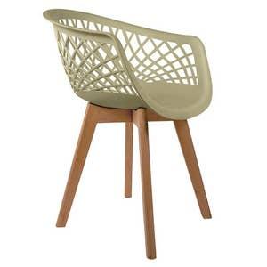 Cadeira Web Fendi com Braço Base Wood Empório Tiffany