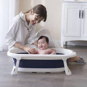 Banheira Dobrável Pequena Baby Pil
