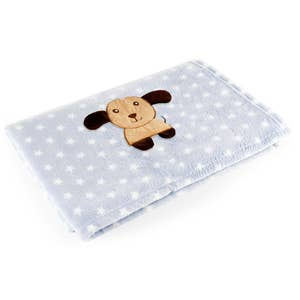 Manta para Bebê Azul Cachorro Baby Pil