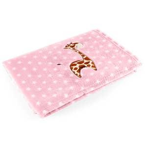 Manta para Bebê Pink Girafa Baby Pil